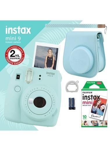Fujifilm Instax Mini 9 Açık Mavi Fotoğraf Makinesi ve Hediye Seti 3 Mavi